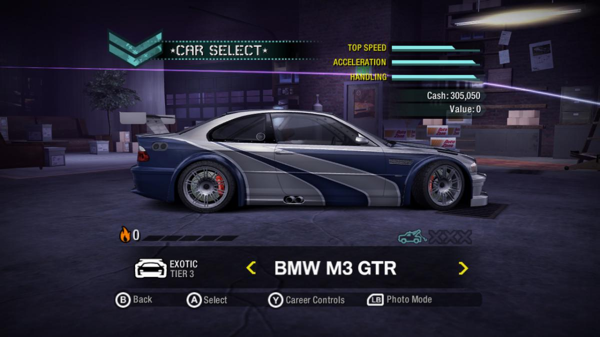 Need For Speed Carbon Bonus Cars In Career Xbox 360 Gamesave