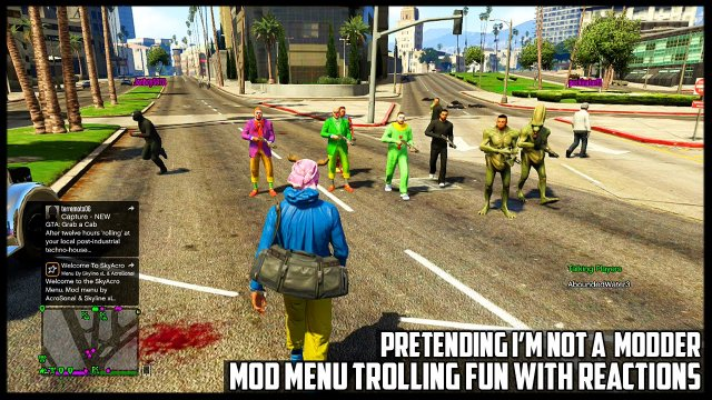 GTA 5 ONLINE - PRETENDING I'M NOT A MODDER! RANDOM MOD MENU TROLLING FUN WITH REACTIONS (GTA V MODS)