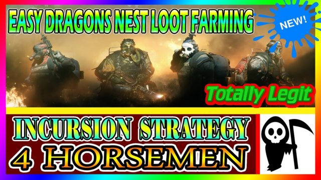 MOST Amazing Dragons Nest Strategy! | The Division | Incursion Made Easy | LEGIT METHOD! 4 Horsemen!