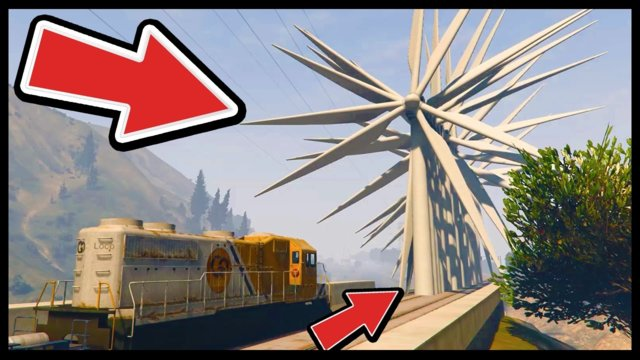 CAN 100+ WINDMILLS STOP THE TRAIN IN GTA 5?! (GTA 5 Funny Moments)::